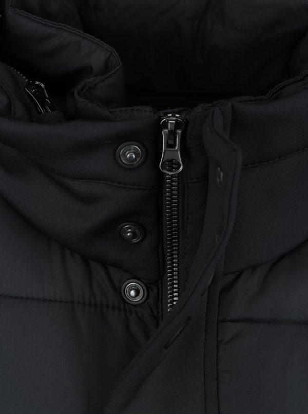 Tmavomodrá pánska prešívaná bunda s golierom s.Oliver