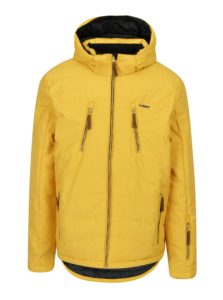 Žltá pánska lyžiarska funkčná vodovzdorná bunda LOAP Fallon