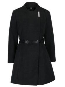 Tmavosivý kabát s opaskom Dorothy Perkins Petite