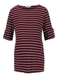5971c0b2b54c Krémovo–vínové pruhované tehotenské tričko Dorothy Perkins Maternity