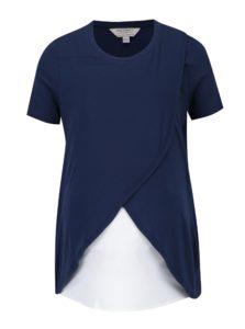 Tmavomodré tehotenske tričko/tričko na kojenie Dorothy Perkins Maternity