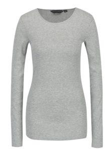 Svetlosivé dlhé melírované basic tričko Dorothy Perkins
