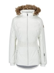 Krémová dámska lyžiarska funkčná vodovzdorná bunda LOAP Fabiana