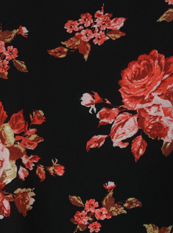 Čierna kvetovaná blúzka Dorothy Perkins Curve