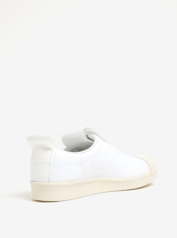 Biele dámske kožené slip on adidas Originals Superstar