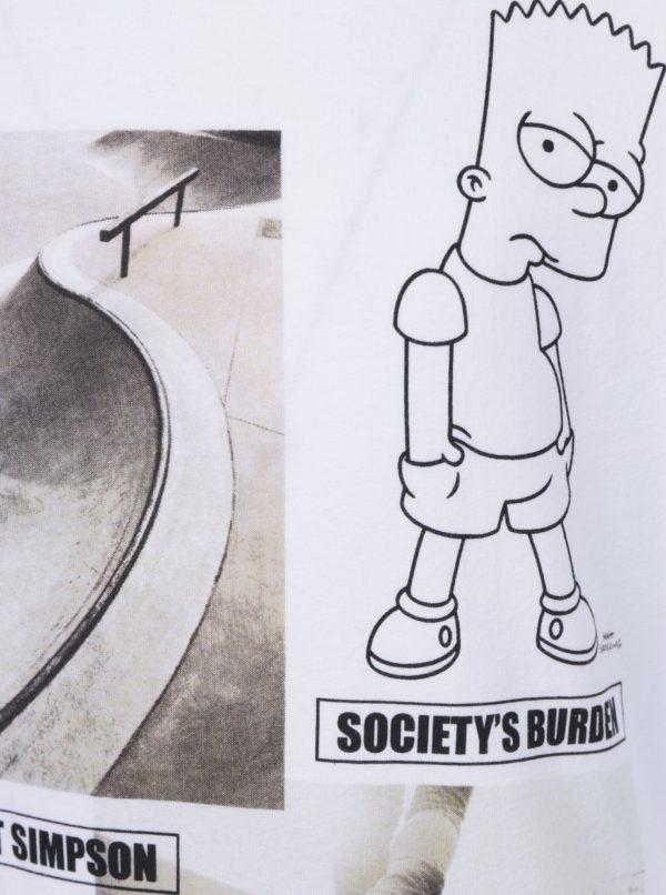 Biele chlapčenské tričko s potlačou name it Simpsons