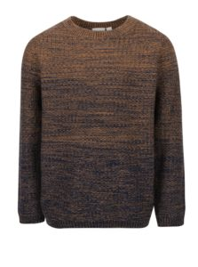 Hnedý chlapčenský melírovaný sveter name it Hep