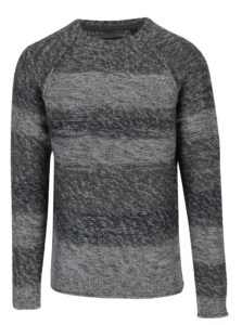 Sivý melírovaný sveter ONLY & SONS Ollan