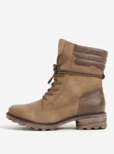 Hnedé zimné členkové topánky Tamaris
