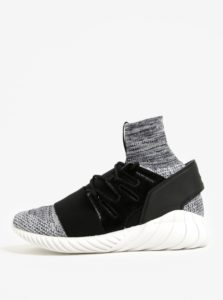 Čierno-biele pánske melírované tenisky adidas Originals Tubular