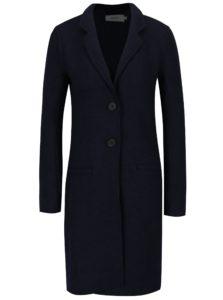 Tmavomodrý kabát s prímesou vlny ONLY New Ella