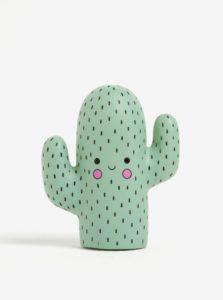 Zelená malá LED lampa v tvare kaktusu Disaster Cactus