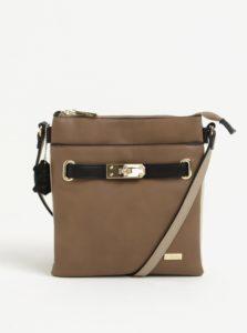 Hnedá crossbody kabelka s koženými detailmi Liberty by Gionni Janine