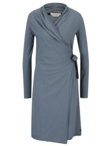 Sivomodré zavinovacie šaty Skunkfunk Nagore