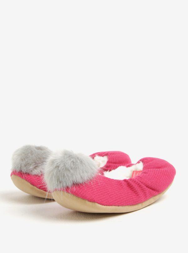 Ružové papuče s brmbolcom Tom Joule