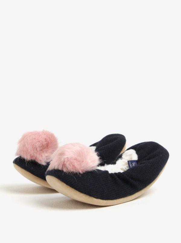 Tmavomodré papuče s brmbolcom Tom Joule