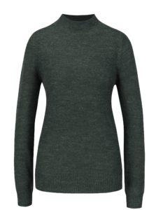 Tmavozelený melírovaný sveter VERO MODA Zoe