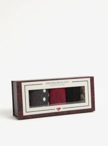 Darčeková súprava troch párov dámskych ponožiek v čiernej dc3c974026c