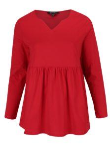 Červená tunika s dlhým rukávom Ulla Popken