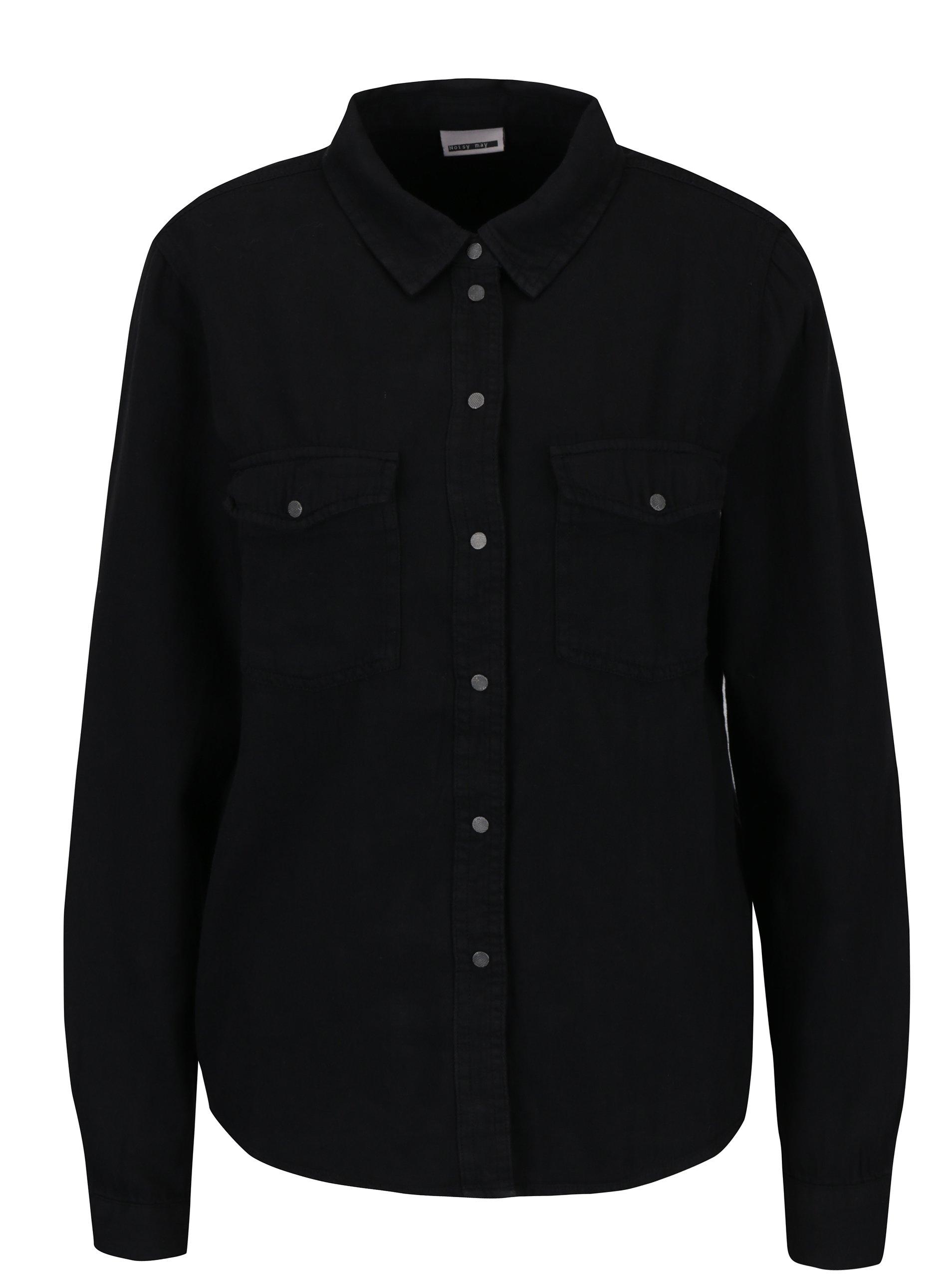 c4bd5f77e5b3 Čierna košeľa s vreckami Noisy May Kendall