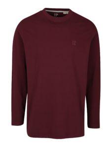 Vínové pyžamové tričko s dlhým rukávom JP 1880