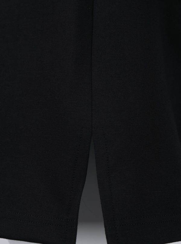 Čierne mikinové šaty s vreckami Ulla Popken