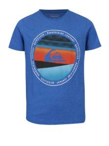 Modré chlapčenské regular fit tričko s potlačou Quiksilver Classic Last