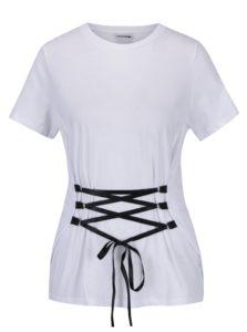 Biele tričko so šnurovaním Noisy May Philippa