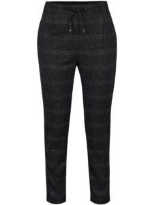 Tmavosivé kockované melírované nohavice VERO MODA Rory