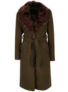 Kaki kabát s umelou kožušinou VERO MODA Prague