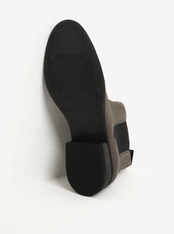 04aff78c0f Sivé dámske kožené chelsea topánky Vagabond Cary