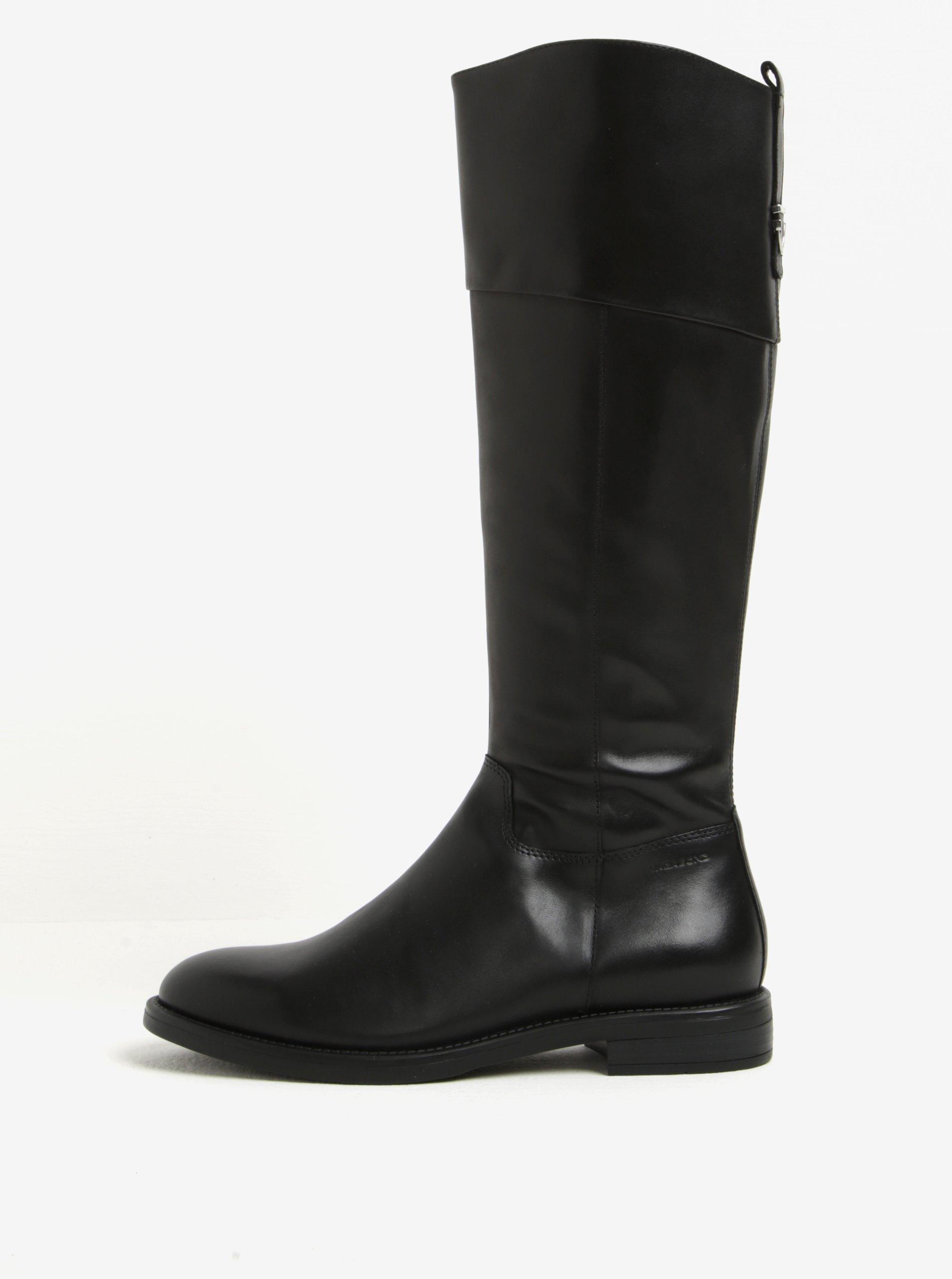 Čierne dámske vysoké kožené čižmy Vagabond Amina  632468662ac