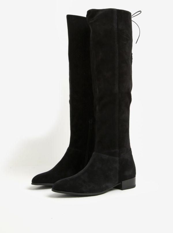 Čierne dámske vysoké semišové čižmy Vagabond Gigi