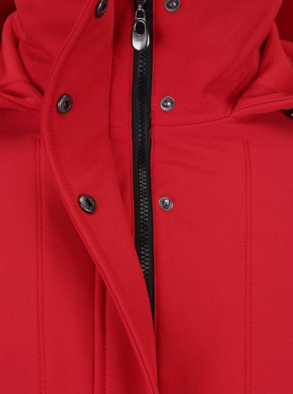 Červená zimná bunda s kapucňou Ulla Popken
