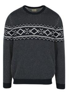 Tmavomodrý sveter s nórskym vzorom Selected Homme Blizzard
