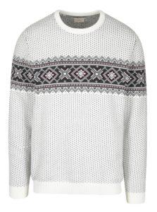Sivo-krémový sveter s nórskym vzorom Selected Homme Blizzard