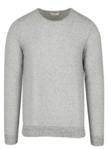 Svetlosivý melírovaný sveter Selected Homme Marnix