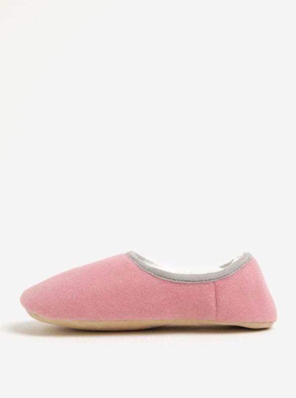 Ružové dámske papuče s motívom psa Tom Joule Slippets