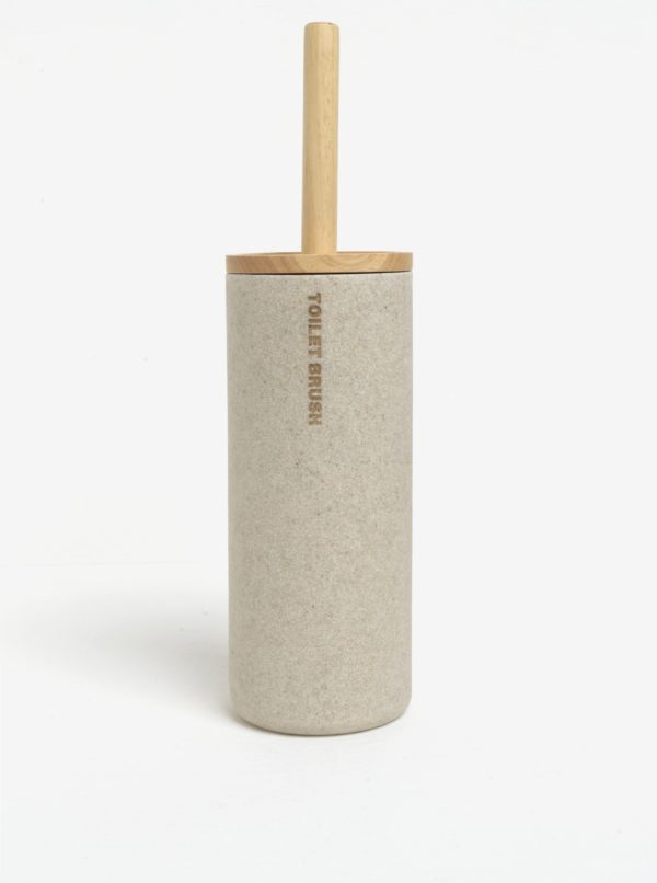 Béžový stojan so záchodovou kefou SIFCON