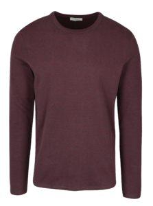 Sivo-vínové pruhované tričko s dlhým rukávom Selected Homme Ray
