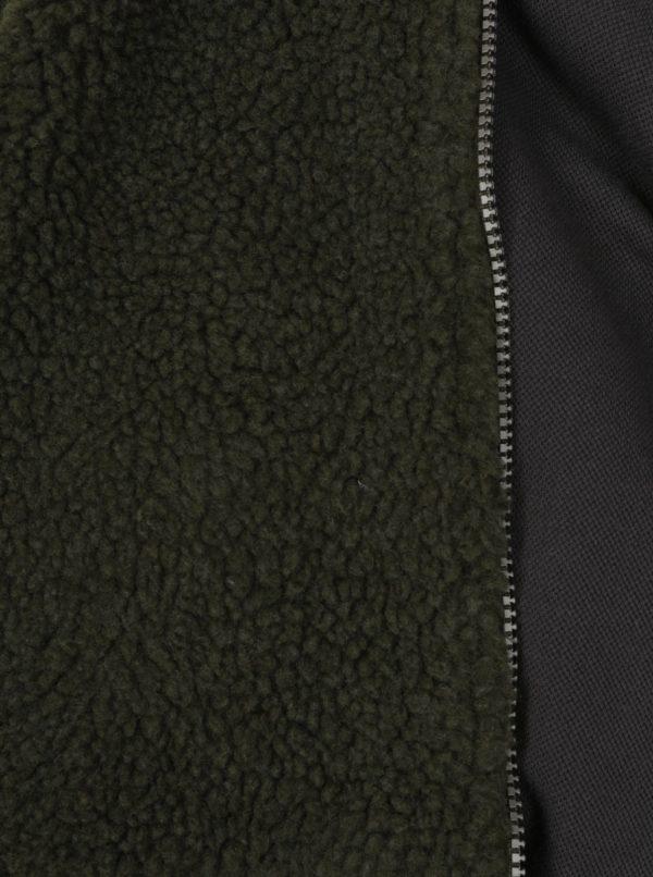Tmavosivý chlapčenský bomber s umelým kožúškom Tom Joule Kenickie