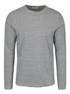 Modro-krémové pruhované tričko s dlhým rukávom Selected Homme Ray