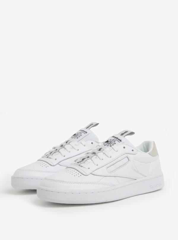 Biele pánske kožené tenisky Reebok CLUB C 85 IT
