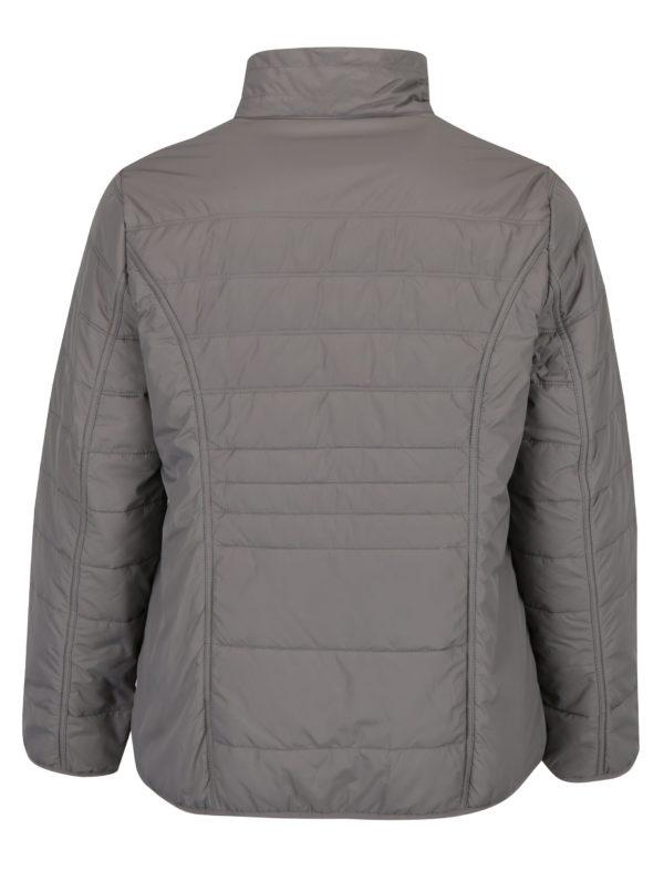 Sivá prešívaná bunda s vreckami Ulla Popken