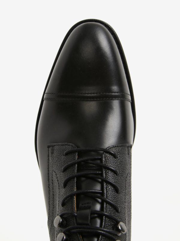 d6f4aab794 Čierne pánske kožené členkové topánky ALDO Semaj