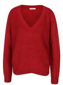 Červený sveter s véčkovým výstrihom Jacqueline de Yong Drink