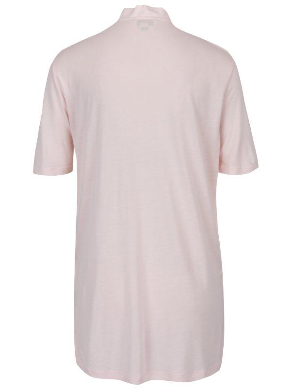 Ružové tričko s chokerom Miss Selfridge