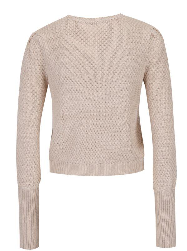 Béžový sveter s dlhým rukávom Miss Selfridge