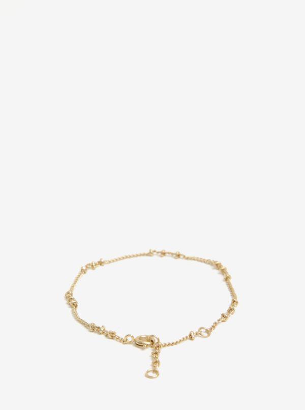 Náramok v zlatej farbe VILA Efj Knot Chain