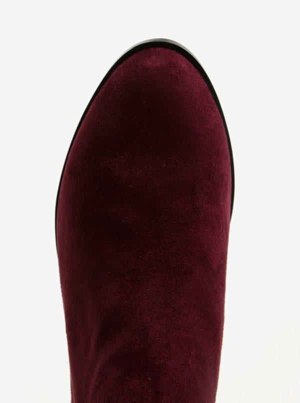 Vínové dámske chelsea topánky v semišovej úprave ALDO Nydia